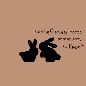 Everybunny needs somebunny to love